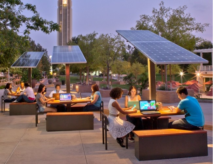 Solar Charging Tables